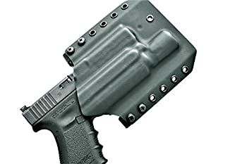 LIGHTBEARING OWB Holster for Glock 19 with SUREFIRE X300 Ultra   Outside The Waistband Holster for Glock 19 with SUREFIRE X300U A OR B Model Attached   CODE 4 DEFENSE OWB KYDEX Holster