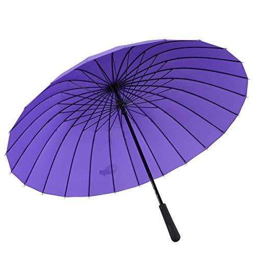 Queen Boutiques 24 Os Touchez l'eau Créative Floraison Ensoleillée Parapluie Poêle Coupe-Vent Parapluie Ms (Color : Purple)