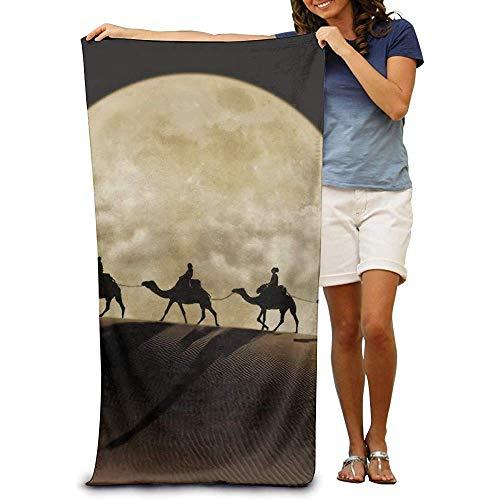 La.R 100% katoen strandhanddoeken Quick Dry handdoek voor zwemmers Camel Moon Beach Blanket 80X130cm