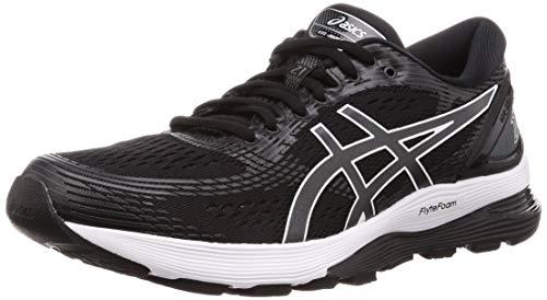 Asics Gel-Nimbus 21, Zapatillas de Running Mujer, Negro (Black/Dark Grey 001), 39.5 EU