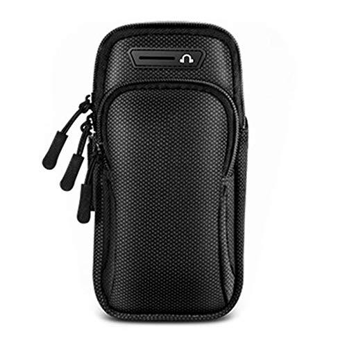 Universal Running Armband, Arm Handyhalter Sport Armband zum Laufen, Armband zum Telefon Running Armband (Black)