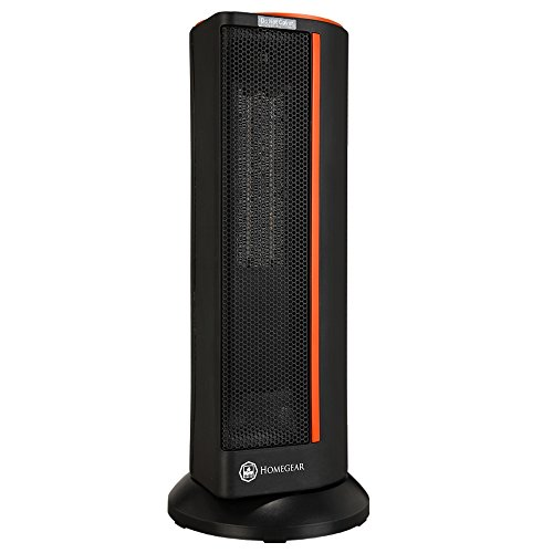 Homegear Electronic Oscillating Tower Heater with Remote Control and Digital Control Panel Digital Heater Space