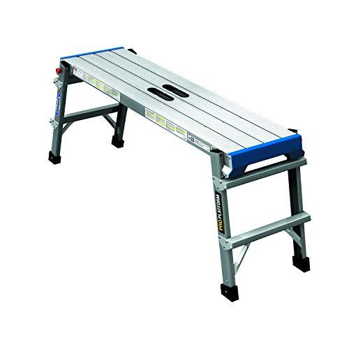 Werner 79205, Professional Work Platform, DIY, Trade, Home, Garden, Aluminium, Easy Grab Handle, Silver, One Size