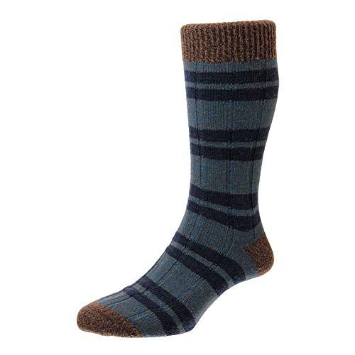 Scott Nichol Sudbury Rib Stripe Wollsocken, Denim Marl Gr. 6/9, Denim Marl