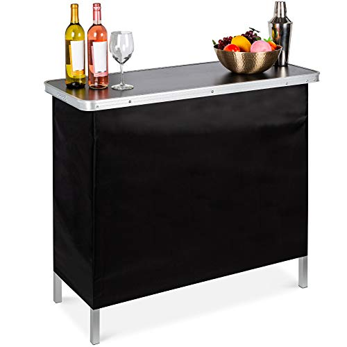 Best Choice Products Portable Pop-Up Bar Table for Indoor, Outdoor, Party,...