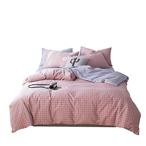 CXLSummer bedding four-piece cotton 1.8m bed quilt cover cotton 1.2 meters student dormitory three-piece printing with zipper opening and closing duvet cover