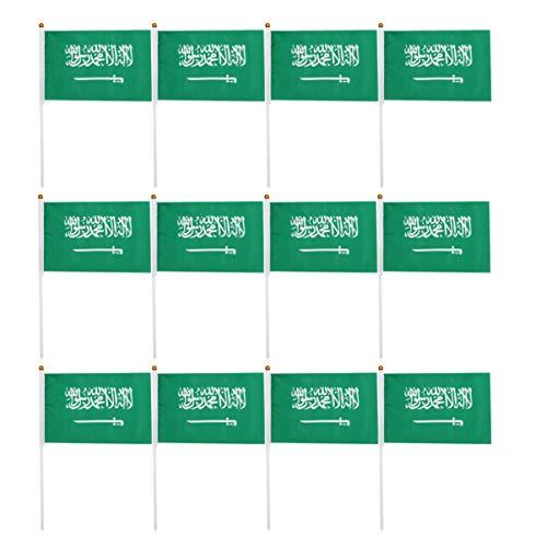 BESPORTBLE 100 Piezas Saudita Arabia Bandera de Palo Internacional del Mundo Bandera de Palo Pequeñas Banderas Nacionales Pancartas para Olimpiadas Copa Mundial Desfiles Bar Eventos Deportivos