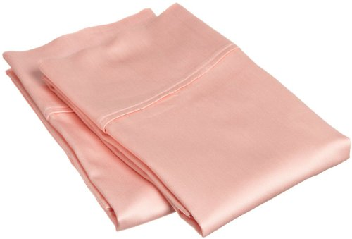 Superior Combed Cotton, 300 Thread Count Pillowcases Set of 2, Single Ply Cotton, Soft and Luxurious Bedding Sets - 20' x 40' King Pillowcase, Peach