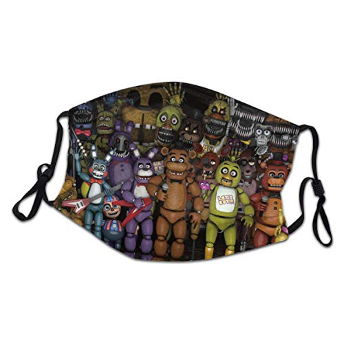 ZGCJK Youth Five Nights at Freddy's Bear Outdoor Face Cloth Mask Adjustable Protection Bandana Neck Gaiter Style3