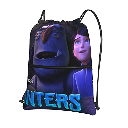 Troll-Hunters - Bolsas de gimnasio con cordón, impermeable, bolsa de polietileno, para escuela, niñas, niños, natación, compras, yoga, escuela, playa, fútbol con cremallera