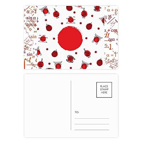 Juego de 20 faroles de la bandera nacional de Japón para tarjetas...