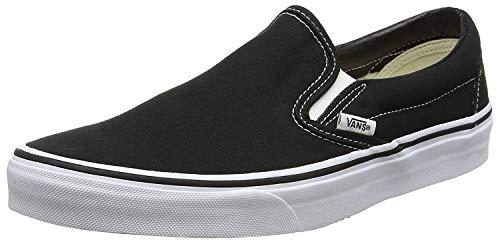 Vans Classic Slip-On Canvas, Mixte Adulte Noir (Black Shoe White Sole) 37