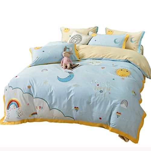 ZSQAW Niño niño niño Cubierta Cubierta Cubierta edredón sábanas para niños Adultos sábanas y Fundas de Almohadas Juego de Ropa de Cama Edredón (Size : 2.0m)