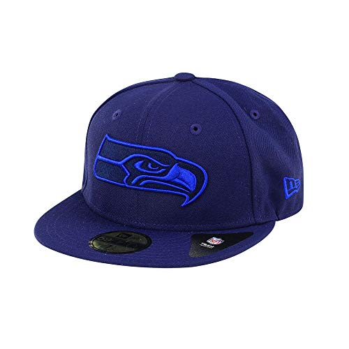 New Era - Color Pop Edition - Seattle Seahawks - Fitted Cap Kappe - Navy - NFL Football - US Sports (7 1/8)