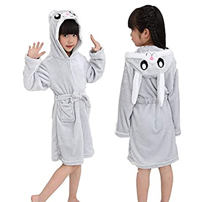 Etitek Kids Unicorn Bathrobe Sleepwear Pajamas Soft Fleece Bath Robe Toddler Women Girl