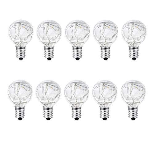 Bulb, 10 Pack LED Chandelier Light Bulbs G40 Retro Bulb Waterproof Incandescent Light Bulb for Solar Light Accessories