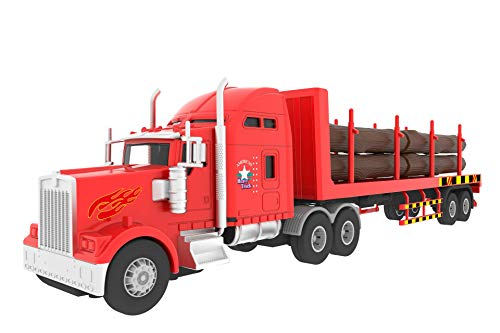 Big Daddy Big Rig Heavy Duty Tractor Trailer Transport Series Lumber Truck Tractor Trailer