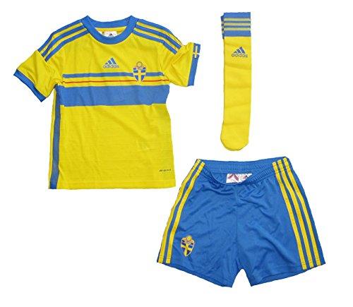 adidas Schweden Minikit/Trikot Set Home 2013/14 Kindergröße (104)