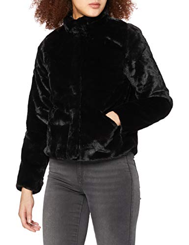 ONLY Damen Onlvida Faux Fur Jacket OTW Noos Jacke, Schwarz (Black Black), Medium (Herstellergröße: M)