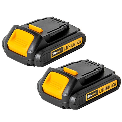 2 Pack 2A 20V MAX XR DCB203 Compact Battery Replacement for DEWALT Cordless Tool