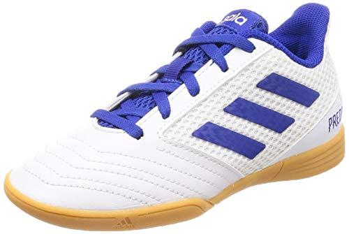 Adidas Predator 19.4 IN Sala J, Zapatillas de Deporte Unisex niño, Multicolor (Ftwbla/Azufue/Ftwbla 000), 35 EU