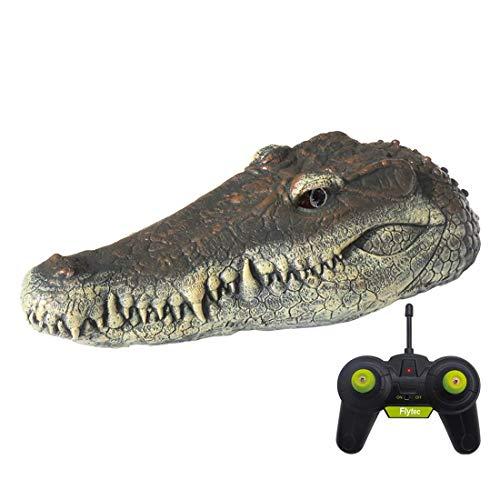 zw65inz0 Alligator Kopf Schwimmend Köder für Pool, Schwimmend Krokodil Kopf RC Boot, Anti Interference Elektrisch Simulation Krokodil mit Wasser Induktive Paddel Schaft