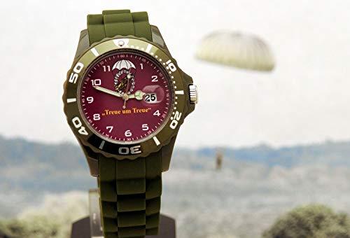 IMC - Reloj de Pulsera, diseño de Paracaidismo, Color Verde Oliva y Burdeos