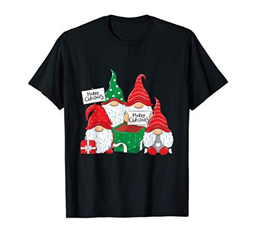Buon Natale Cappelli di Babbo Natale Nani Folletti Natalizi Maglietta