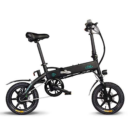 OUXI FIID0 Bicicletas Electricas Adulto, Plegable Ebike con 10.4ah Litio Batería, hasta 25 Km/h Carretera Bicicleta por Ciclismo Viaje Conmutar (Negro)