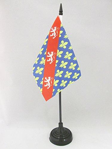 AZ FLAG TISCHFLAGGE DÉPARTEMENT CREUSE 15x10cm - CREUSE TISCHFAHNE 10 x 15 cm - flaggen