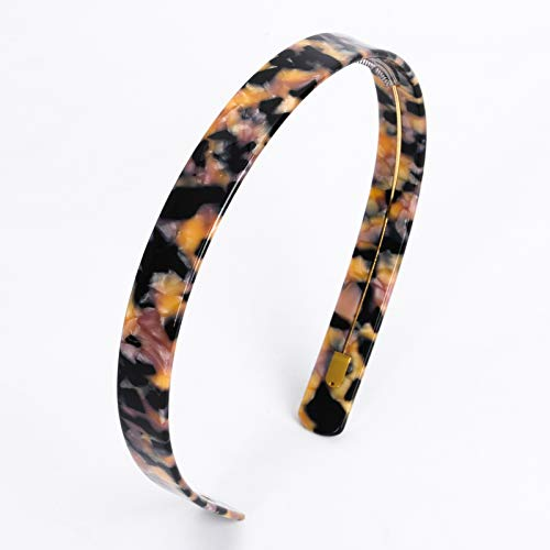 1Pcs Plastic Headbands for Women with Small Teeth Comb Elastic Plain No Drill Headbands for Girls Accessories