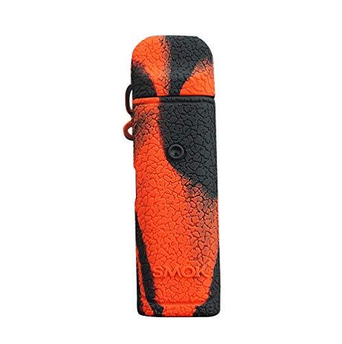DSC-Mart Texture Case for Smok Novo 2 and Novo 1, Anti-Slip Silicone Cover Sleeve Wrap Skin Decal (BlackRed)