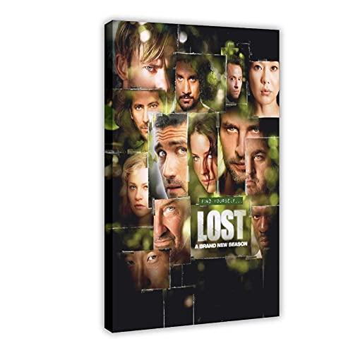 Poster su tela della serie TV drammatica Lost Season 3, decorazione da parete per soggiorno, camera da letto, 50 x 75 cm, cornice: 1