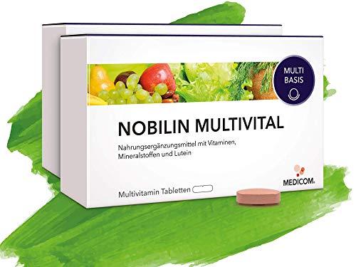 MEDICOM NOBILIN Multivital - 120 Multivitamin Tabletten [4-Monatsvorrat] Tägliche Portion an Multivitaminen & Mineralien • 25 wichtige Spurenelemente von Vitamin A-Z