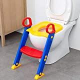 FAB Innovations Potty Toilet Seat with Step Stool Ladder, Trainer for Kids Toddlers W/Handles (Colour May Vary)