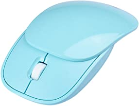 Wireless Mouse Sliding Cover Ergonomic Wireless Laptop Mouse with Sliding Cover 2.4G USB Portable Cute Mini Mouse Works fo...