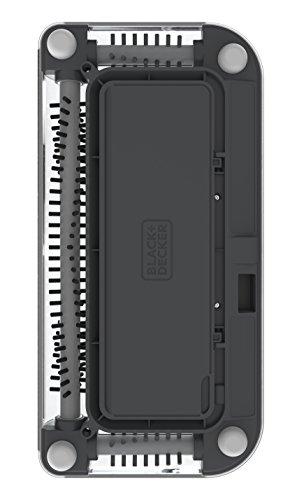 Black+Decker PSA215B-QW 7.2V, 1.5Ah Lithium Akku-Kehrbesen, Laufzeit 60 min, für kurzflorigen Teppiche und Hartböden, kabellos, beutelos, aufladbar, schwarz, PSA215B, Acrylic, 300 milliliters, Grau - 9