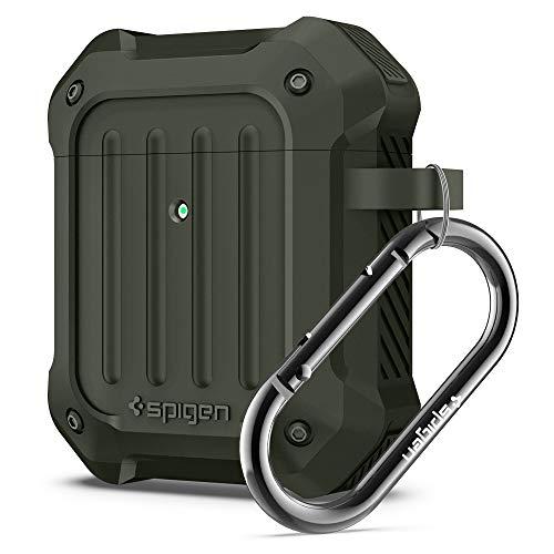 Spigen Airpods Custodia, Tough Armor progettato per Airpods 1 & 2 Case Cover [Front LED Visible] - Military Green