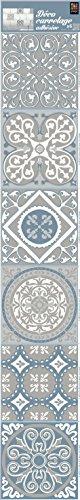 PLAGE Smooth - Tiles tegels stickercement tegels grijs2-AzuLEJOS [6 vellen 15 x 15 cm], vinyl, grijs, 15 x 0,1 x 15 cm