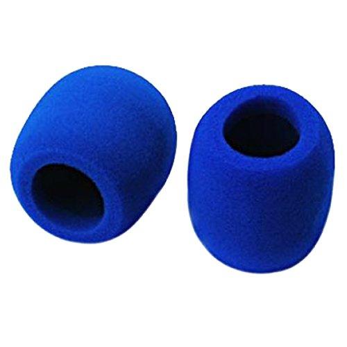 2pcs Espuma Cáscar Funda Cubierta De Micrófono Mic Azul Microphone Foam Cover