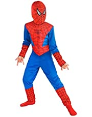 TONY STARK ® Mind Masala Spiderman Costume for Kids for Fancydress Halloween Cosplay