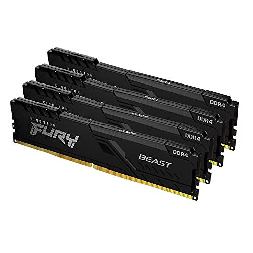 Kingston FURY Beast 128GB (4x32GB) 3200MHz DDR4 CL16 Memoria para Ordenadores de sobremesa Kit de 4 KF432C16BBK4/128
