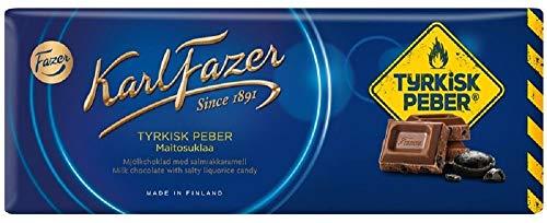 Fazer KarlFazer Milk with Salty liquorice candy Chocola 1 bar of 200g