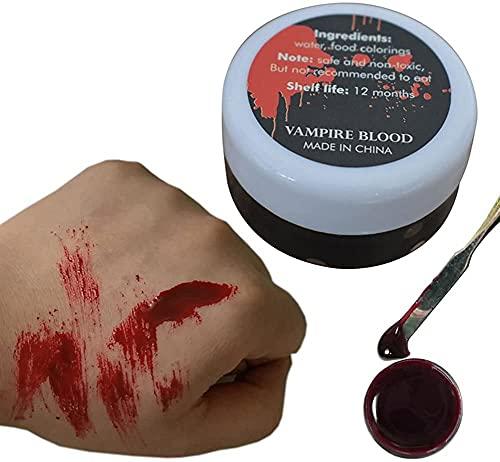 YANWA Halloween Fake Blood-Food Coloring Fake Blood Prank Makeup Party Halloween Adult Horror Dress Up Props