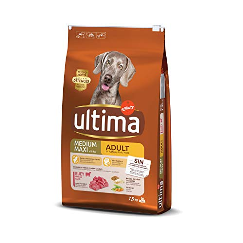 Ultima Cibo per Cani Medium-Maxi Adult con Manzo - 7.5 kg