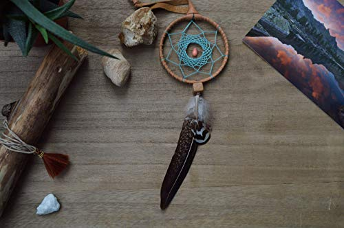 Native American Car Mirror Feathers Dream Catcher Amulet