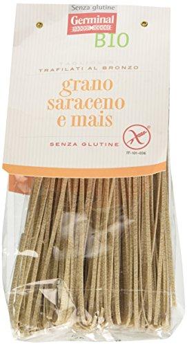 Germinal Bio Tagliolini con Grano Saraceno e Mais Bianco - 250 gr, Senza glutine