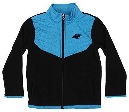 Outerstuff NFL Youth Boys (4-18) Alternate Color Fleece Jacket, Carolina Panthers X-Small (4-5)