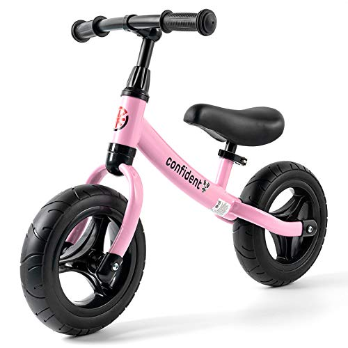 Toddler Balance Bike for 2 Year Old Boy Girl, 12 Inch Kids Riding Toys for Indoor and Outdoor, Lightweight Training Bicycle for 3 4 5 6 Years Old Kids with Adjustable Seat Height (Pink)
