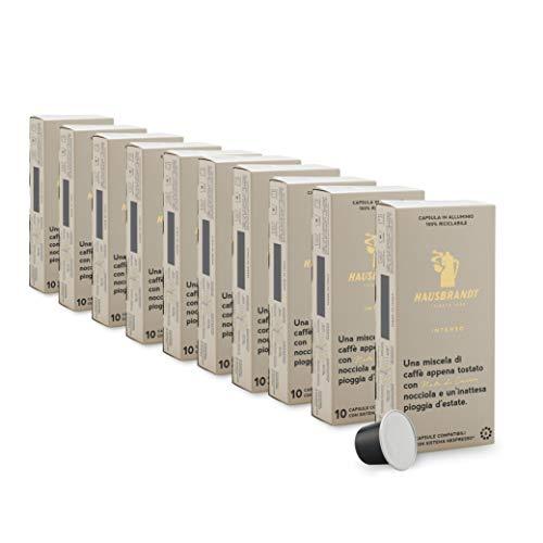 Capsule Hausbrandt Caffè Intenso compatibili Nespresso® 100% alluminio riciclabile (10 astucci da 10 capsule)
